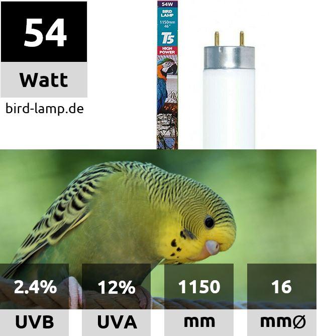 Arcadia Bird Lamp T5 UV-Leuchtstoffröhre 54W