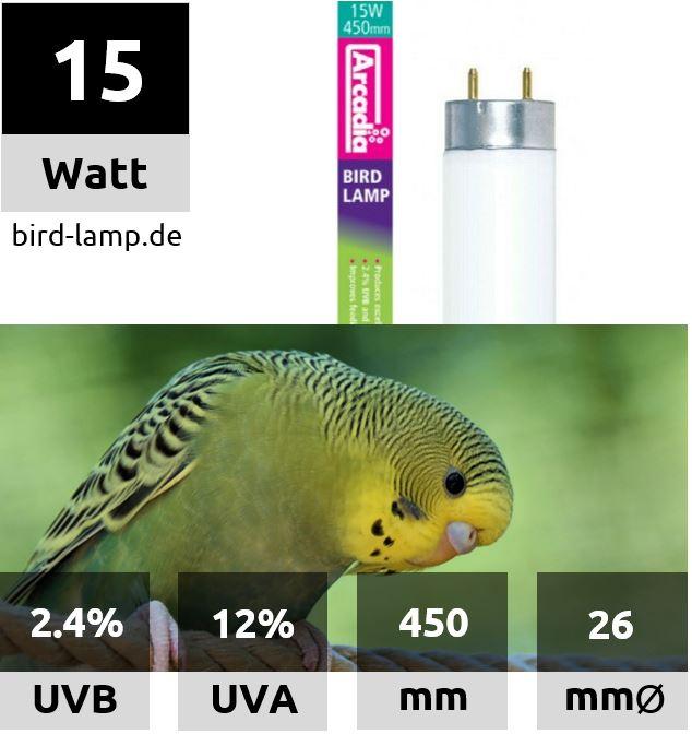 Arcadia Bird Lamp – T8 UV-Leuchtstoffröhre 15W