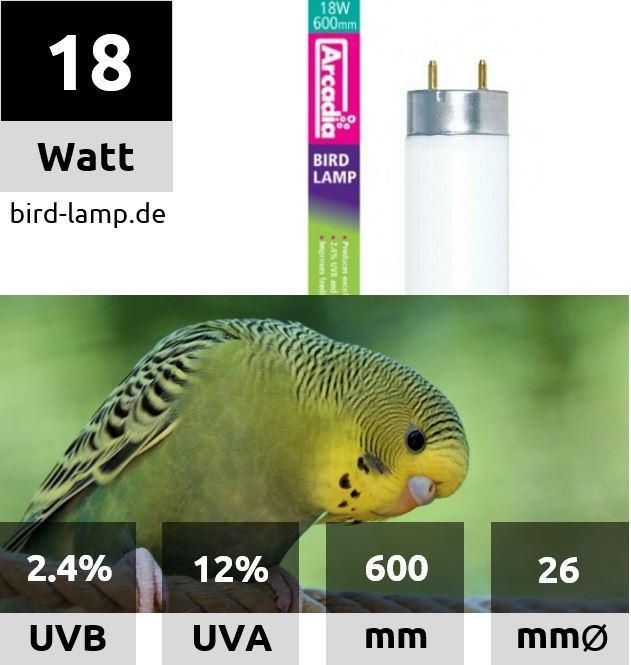 Ardacia Bird Lamp – T8 UV-Leuchtstoffröhre 18W