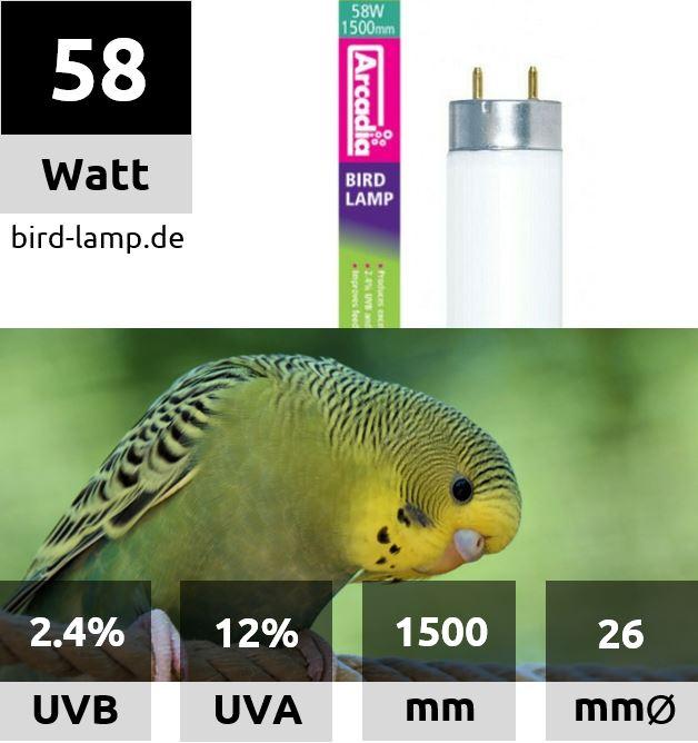 Arcadia Bird Lamp – T8 UV-Leuchtstoffröhre 58W