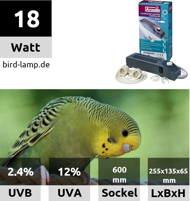 Ardacia Vorschaltgerät / Betriebseinheit für UV-Leuchtstoffröhren 18W