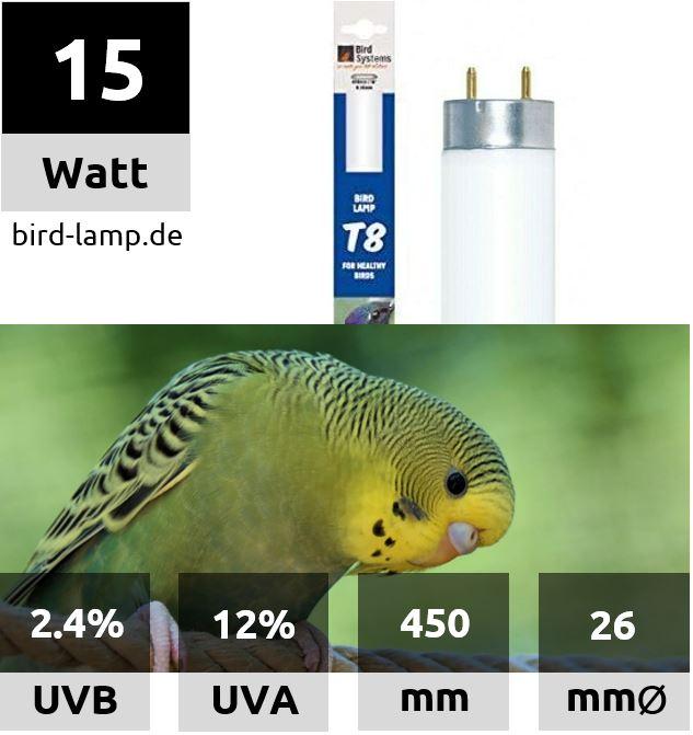 Bird Systems UV-Leuchtstoffröhre 15W