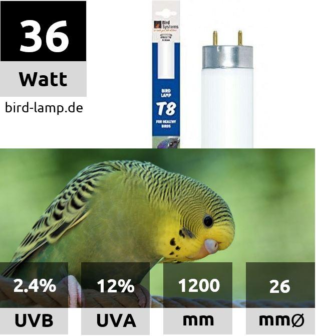 Bird Systems UV-Leuchtstoffröhre 36W
