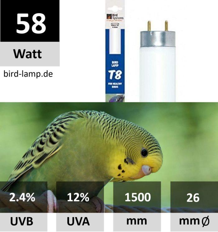 Bird Systems UV-Leuchtstoffröhre 58W