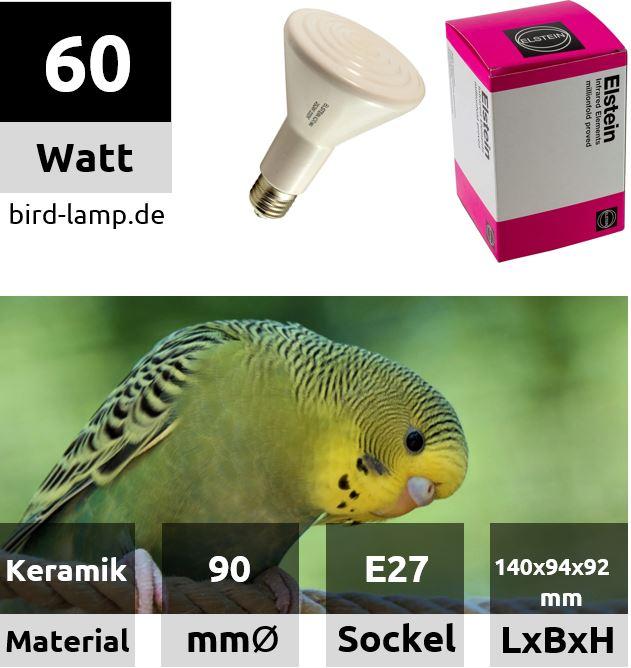 Elstein Dunkelstrahler – Wärmelampe 60 Watt