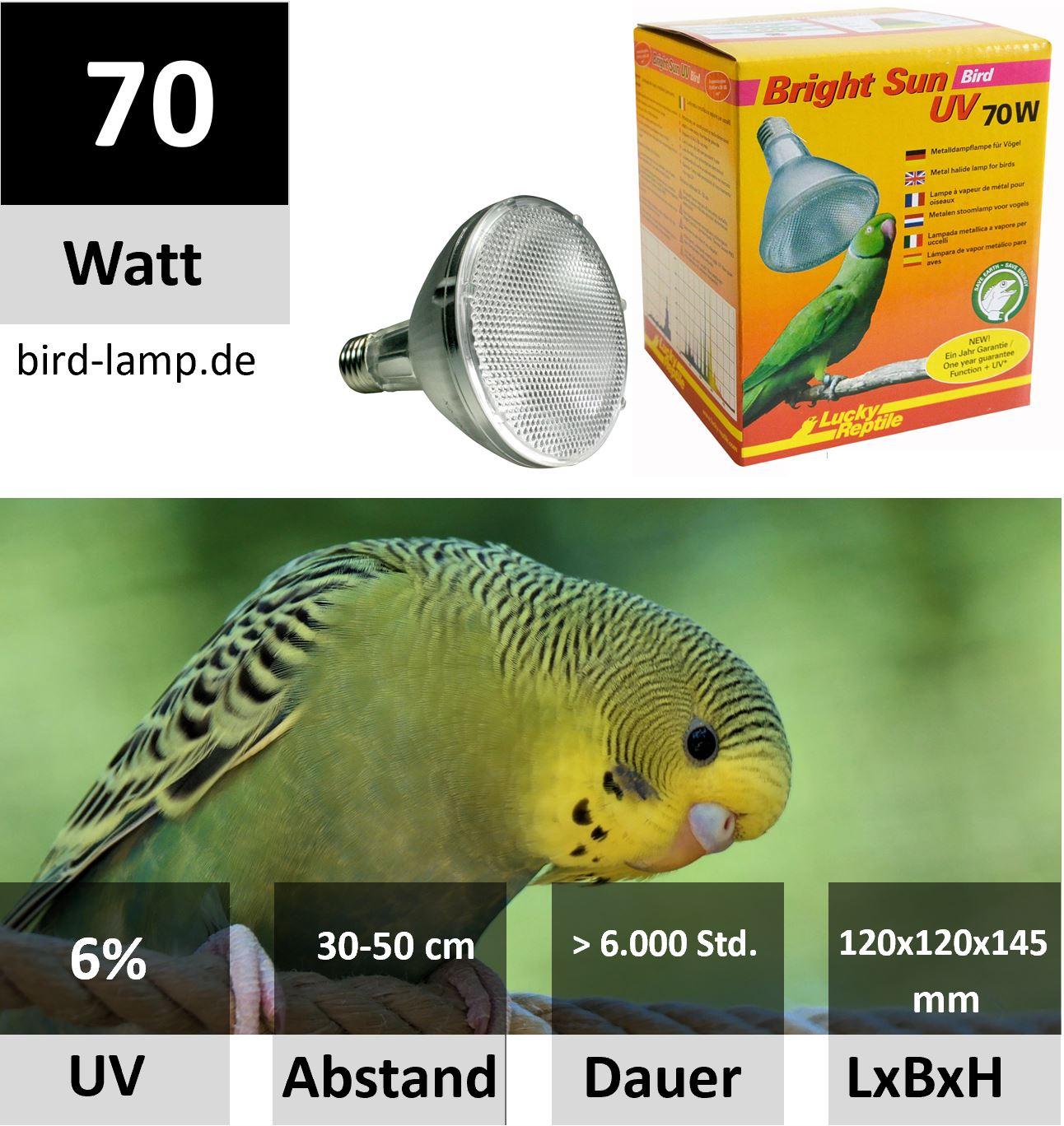 Lucky Reptile Bright Sun UV Bird 70 Watt Metalldampflampe