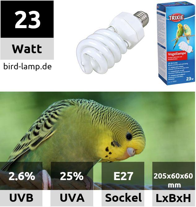 Trixie Bird Lamp – UV-Kompaktlampe 23W
