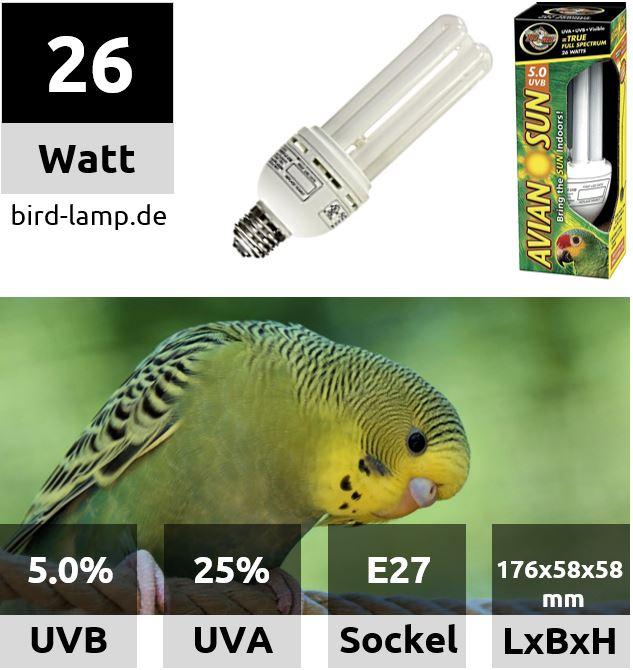 AvianSun Bird Lamp – UV-Kompaktlampe für Vögel 26W